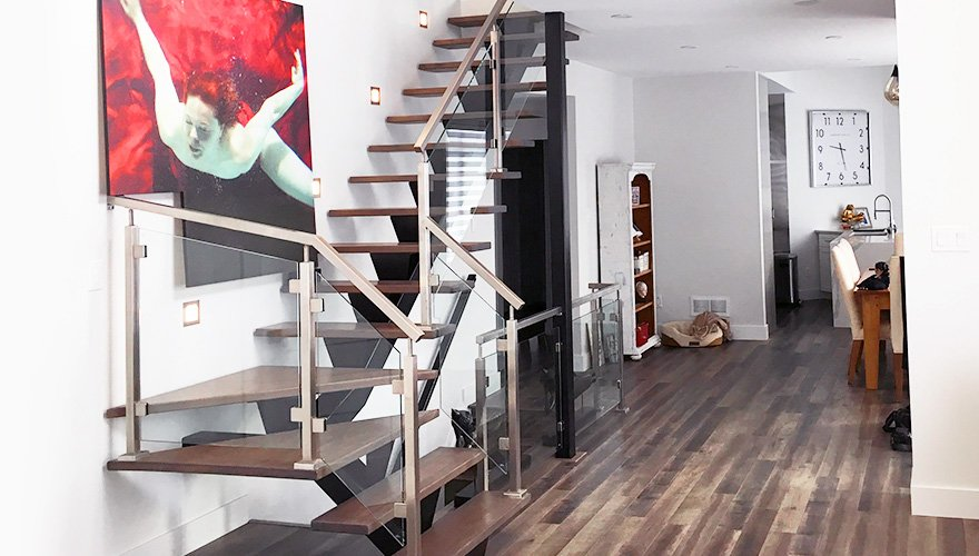 Metal Glass Staircase