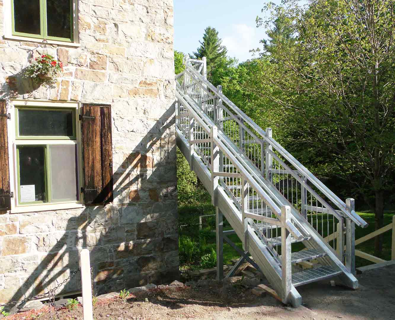 Galvanized Staircase ( Mill of Kintale)