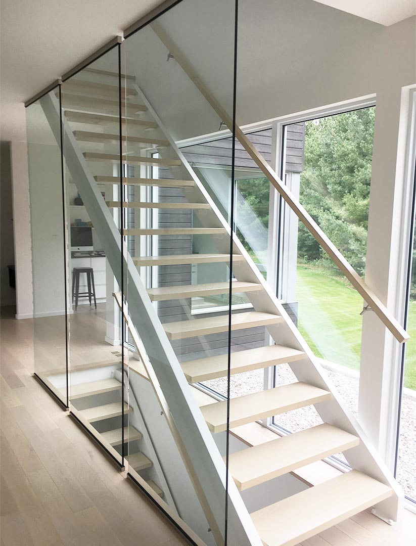 C Channel Staircase with Glass Wall