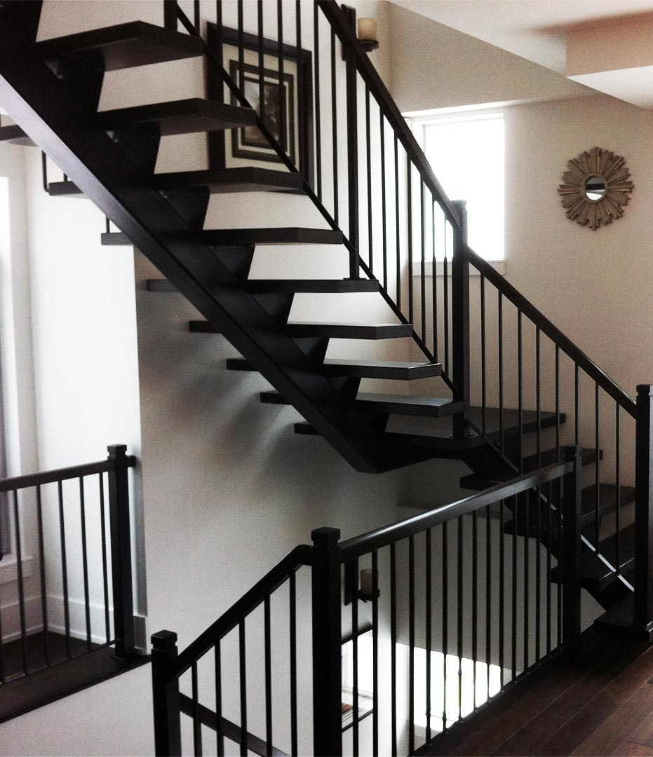 Wood and Metal Staircase