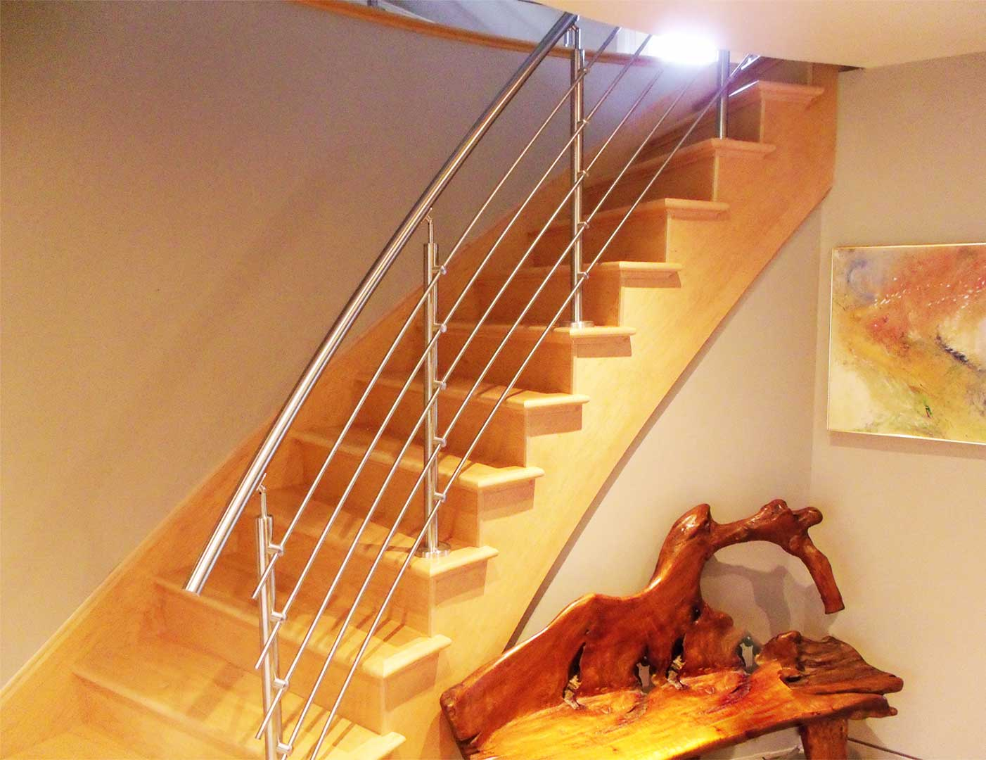 Stainless Steel Curved Railing