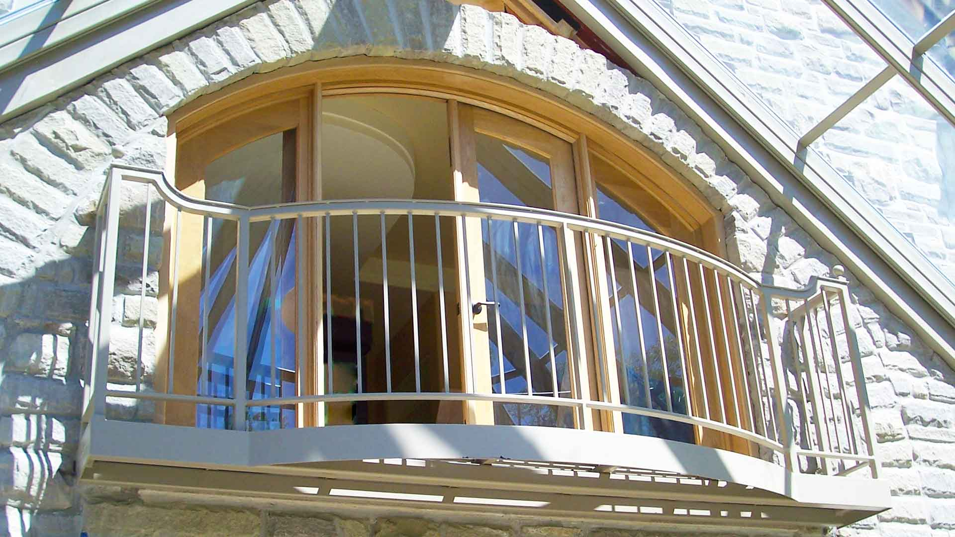 Metal Outdoor Balcony and Railing