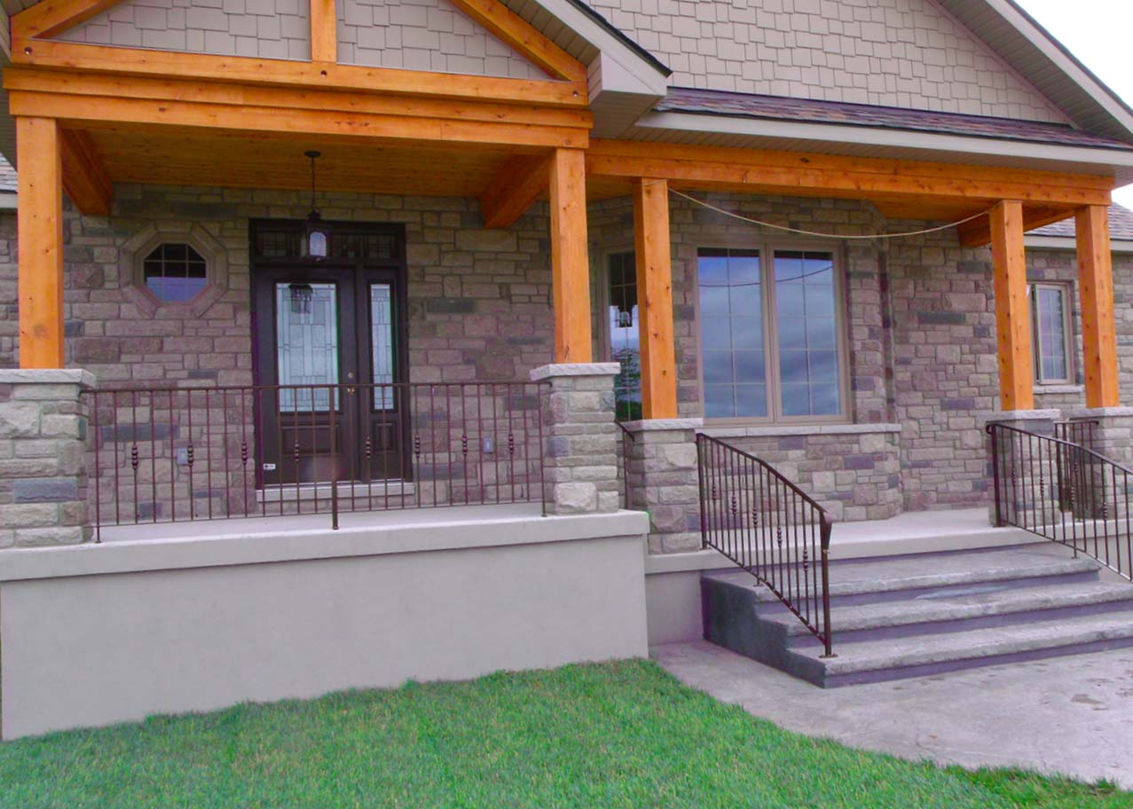 Metal Railings with Detailed Design
