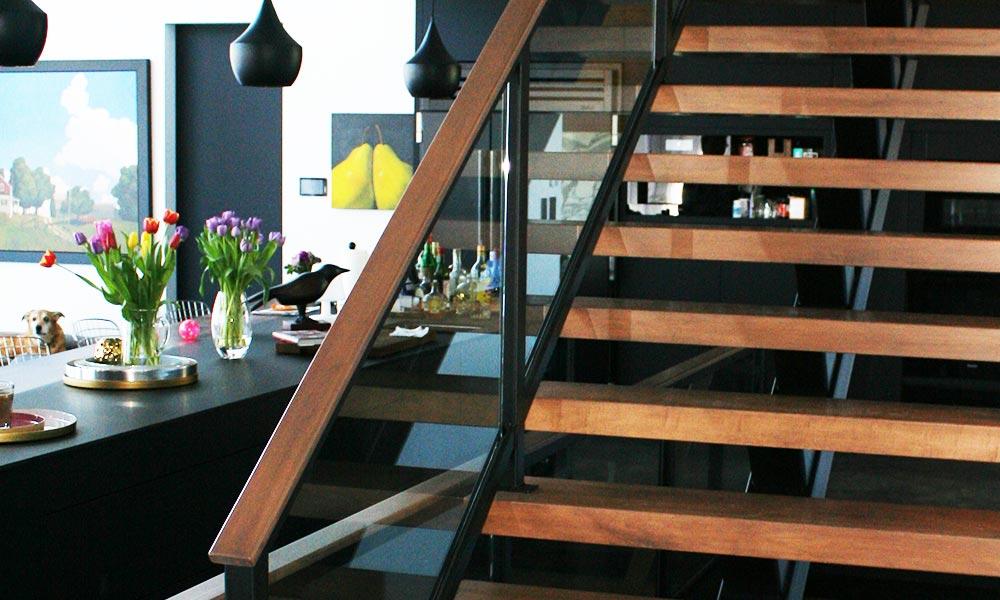 Kirk Hoppner - Metal, Glass and Wood Stairs